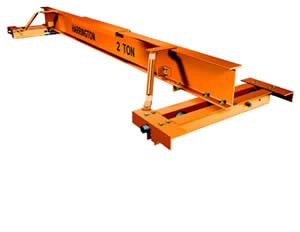 Top Running Single Girder Manual Bridge Crane: Push/Pull and Hand